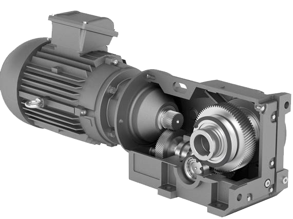 Right angled helical bevel gearbox